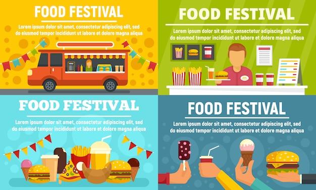 Conjunto de banner festival de comida