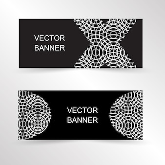 Conjunto de banner geométrico design de modelo de banner de site banner de promoção de design de página de destino
