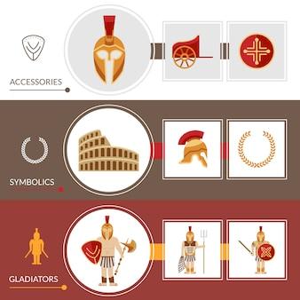 Conjunto de banner gladiador
