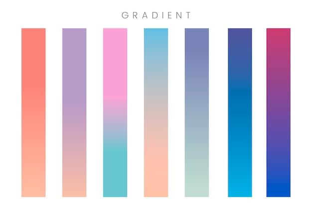 Conjunto de banner gradiente abstrata
