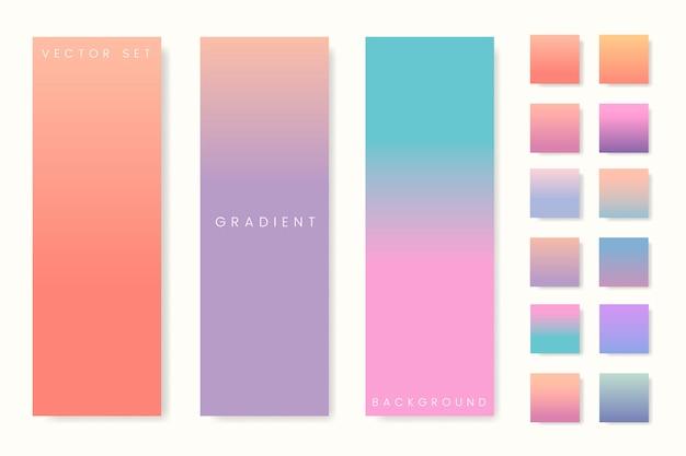 Conjunto de banner gradiente pastel abstrata