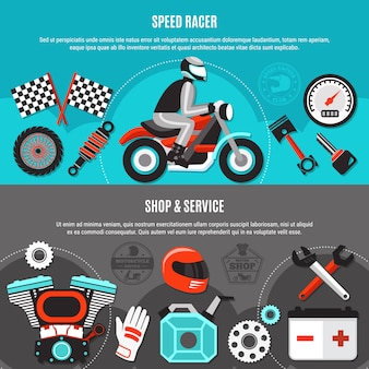 Conjunto de banner horizontal do speed racer