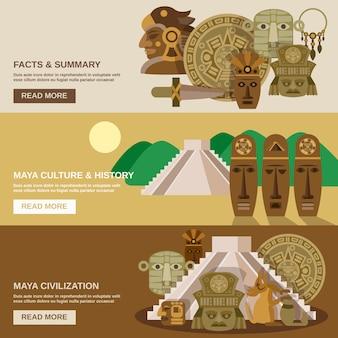 Conjunto de banner maya