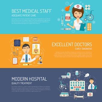 Conjunto de banner médico