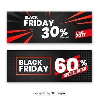 Conjunto de banner preto e vermelho abstrato cyber segunda-feira venda