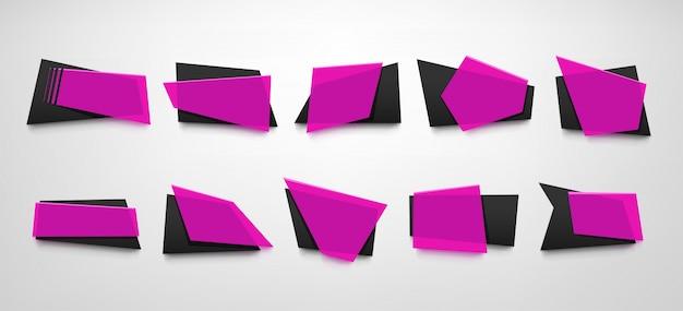 Conjunto de banner rosa