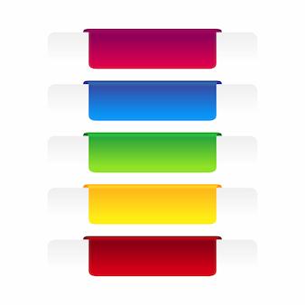 Conjunto de banner rótulo colorido.