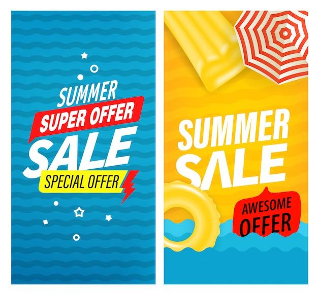 Conjunto de banner super venda verão