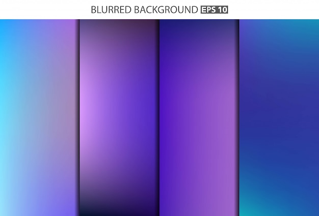 Conjunto de banner turva multicolorido