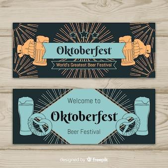 Conjunto de banner vintage oktoberfest