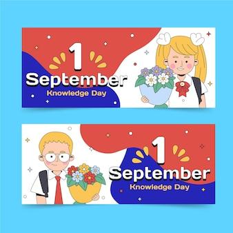 Conjunto de banners de 1 de setembro