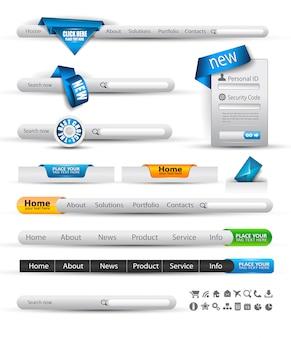 Conjunto de banners de busca e cabeçalho da web