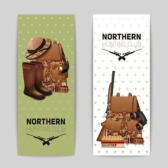 Conjunto de banners de caça