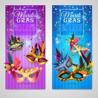 Conjunto de banners de carnaval