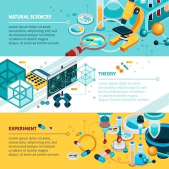 Conjunto de banners de ciência