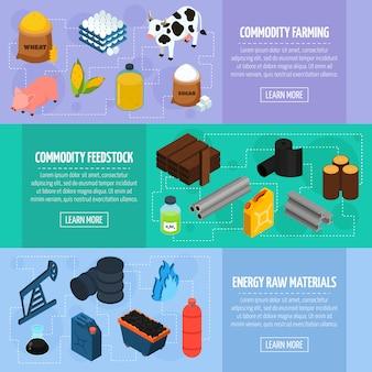 Conjunto de banners de commodity