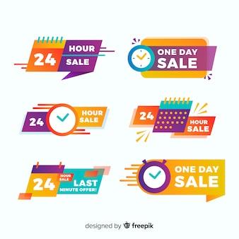 Conjunto de banners de contagem regressiva de vendas