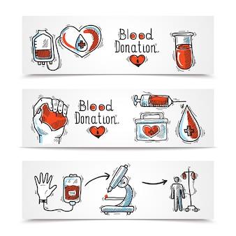 Conjunto de banners de doadores