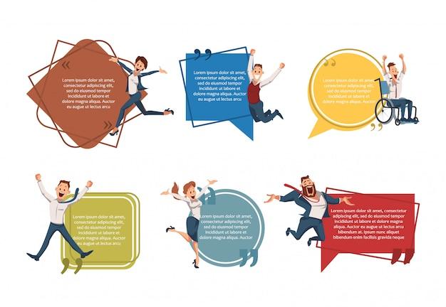 Conjunto de banners de empreendedorismo de sucesso