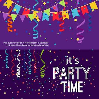 Conjunto de banners de festa de ano novo e natal