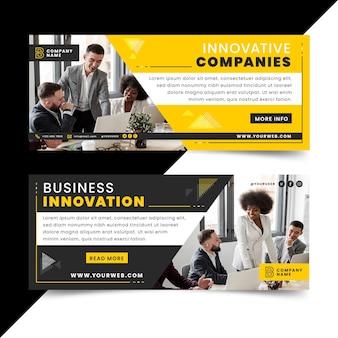 Conjunto de banners de inovação empresarial