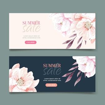 Conjunto de banners de liquidação de verão