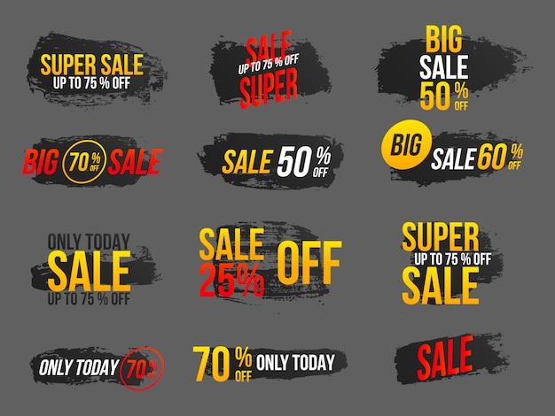 Conjunto de banners de mega venda