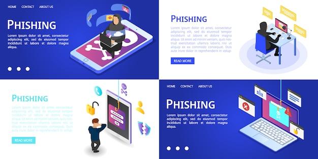 Conjunto de banners de phishing