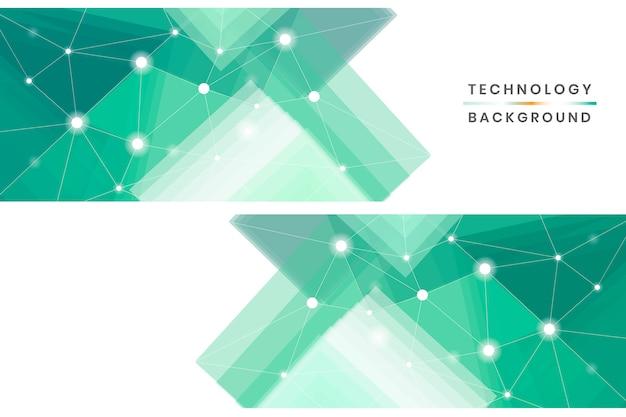 Conjunto de banners de tecnologia