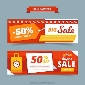Conjunto de banners de venda