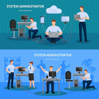 Conjunto de banners do administrador do sistema