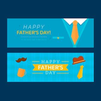 Conjunto de banners do dia do pai \ do plano