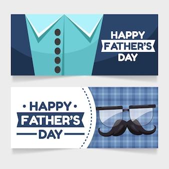 Conjunto de banners do dia dos pais