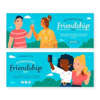 Conjunto de banners do dia internacional da amizade