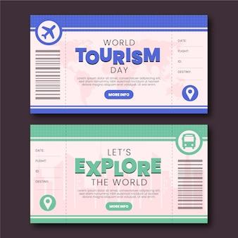 Conjunto de banners do dia mundial do turismo