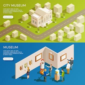 Conjunto de banners do museu urbano
