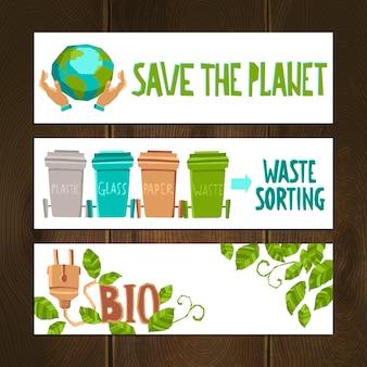 Conjunto de banners eco