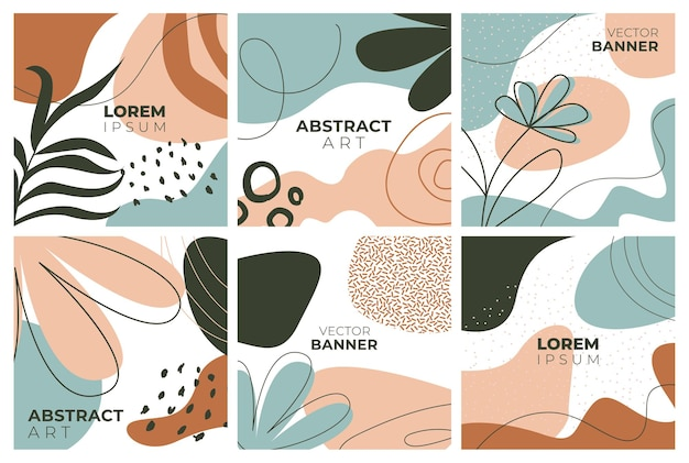 Conjunto de banners estilo memphis de modelos coloridos com padrões de formas geométricas com memphis