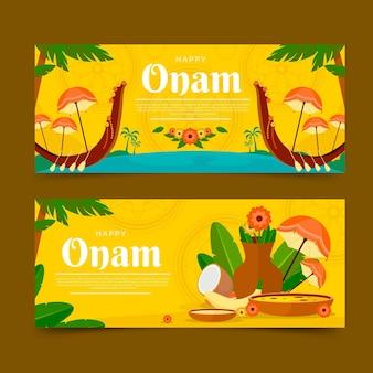 Conjunto de banners flat onam
