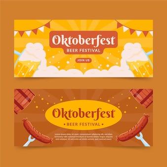 Conjunto de banners horizontais da oktoberfest