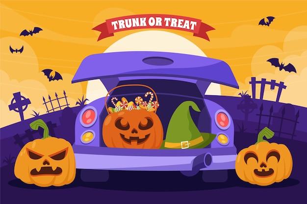 Conjunto de banners horizontais de gradiente de venda de halloween
