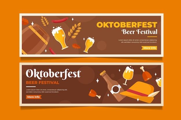 Conjunto de banners horizontais para oktoberfest