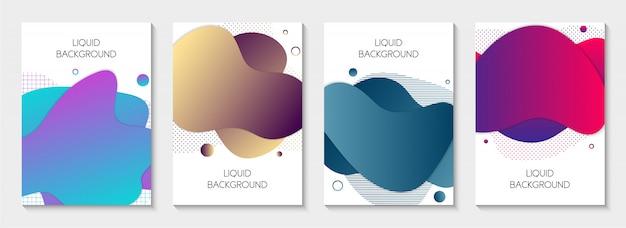 Conjunto de banners líquidos abstratos