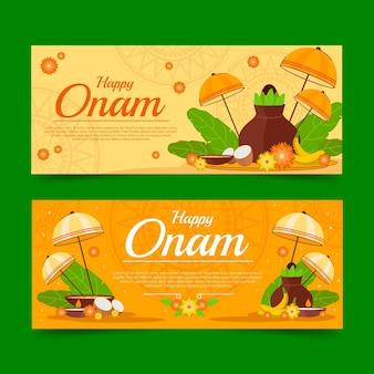 Conjunto de banners onam