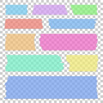 Conjunto de banners pegajosos transparentes