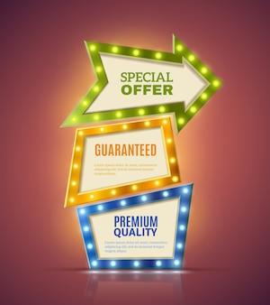 Conjunto de banners premium light