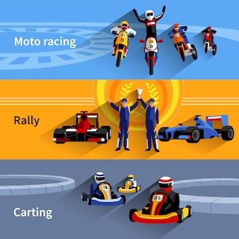 Conjunto de banners racer