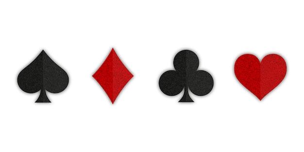 Conjunto de baralho de cartas de símbolos