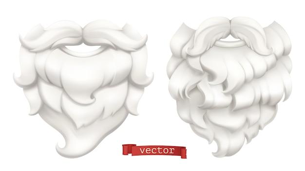 Conjunto de barba e bigode de papai noel.