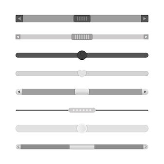 Conjunto de barras de rolagem. barras de rolagem do modelo de design do site